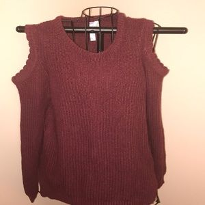 Alya Knit Peek Shoulder Sweater Medium